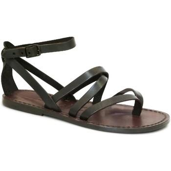 Zapatos Mujer Sandalias Gianluca - L'artigiano Del Cuoio 584 D MORO CUOIO Testa di Moro