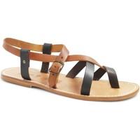 Zapatos Mujer Sandalias Gianluca - L'artigiano Del Cuoio 530 U MORO-CUOIO LGT-CUOIO Testa di Moro