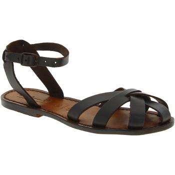 Zapatos Mujer Sandalias Gianluca - L'artigiano Del Cuoio 503 D MORO CUOIO Testa di Moro