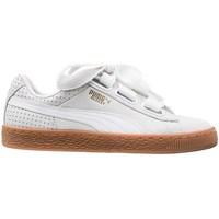 Zapatos Mujer Zapatillas bajas Puma Basket Heart Perf Gum Blanco