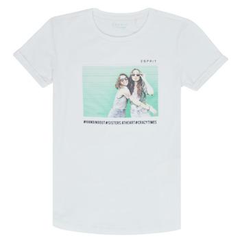 textil Niña camisetas manga corta Esprit ELISH Blanco
