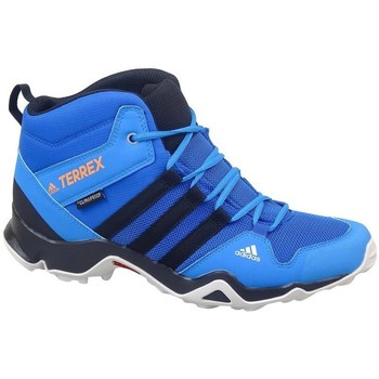 Zapatos Niños Senderismo adidas Originals Terrex AX2R Mid CP Azul, Azul turquesa