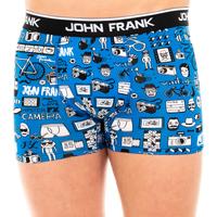 Ropa interior Hombre Boxer John Frank Boxer Azul-estampados