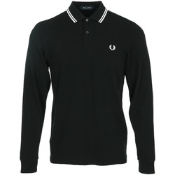 textil Hombre Polos manga larga Fred Perry LS Twin Tipped Shirt Negro