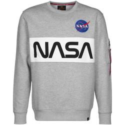 textil Hombre sudaderas Alpha NASA Inlay Sweater Gris