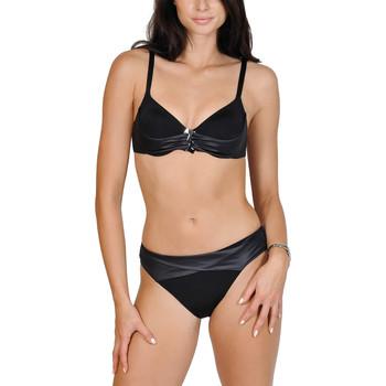 textil Mujer bikini Lisca Juego de flexiones 2 piezas negro Bahamas Pearl Black