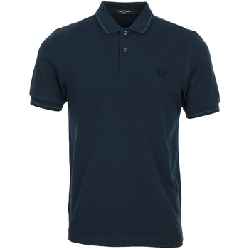 textil Hombre Polos manga corta Fred Perry Twin Tipped Shirt Azul