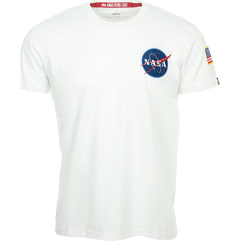 textil camisetas manga corta Alpha NASA Space Shuttle Tee Blanco