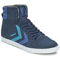 Zapatos Zapatillas altas Hummel TEN STAR WAXED CANVAS HI Azul