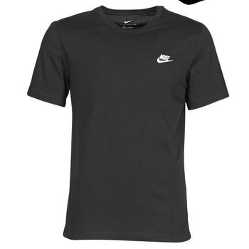 textil Hombre Camisetas manga corta Nike M NSW CLUB TEE Negro / Blanco