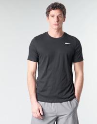 textil Hombre Camisetas manga corta Nike M NK DRY TEE DFC CREW SOLID Negro / Blanco