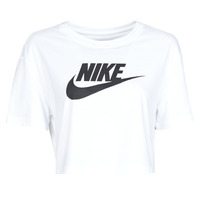textil Mujer Camisetas manga corta Nike W NSW TEE ESSNTL CRP ICN FTR Blanco / Negro