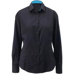 textil Mujer Camisas Alexandra AX060 Negro/Azul Pavo Real