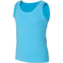 textil Niños Camisetas sin mangas Skinni Fit SM016 Azul