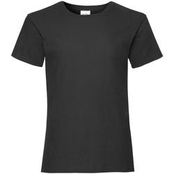 textil Niña Camisetas manga corta Fruit Of The Loom Valueweight Negro
