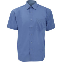 textil Hombre Camisas manga corta Russell 935M Azul Corporate
