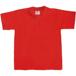textil Niños Camisetas manga corta B And C Exact 190 Rojo
