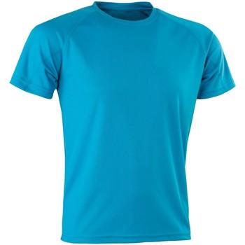 textil Hombre Camisetas manga corta Spiro Aircool Azul Océano