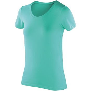 textil Mujer Camisetas manga corta Spiro SR280F Menta