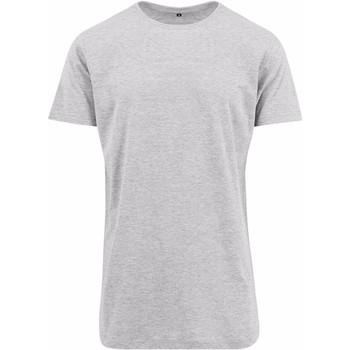 textil Hombre Camisetas manga corta Build Your Brand Shaped Gris