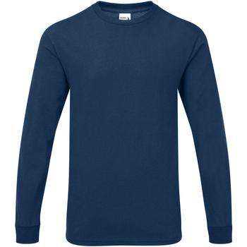 textil Hombre Camisetas manga larga Gildan Hammer Azul Marino Oscuro Sport