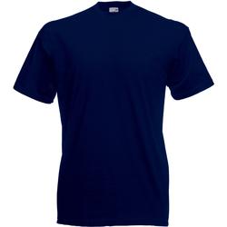 textil Hombre Camisetas manga corta Universal Textiles 61036 Azul Medianoche