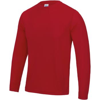 textil Hombre Camisetas manga larga Awdis JC002 Rojo intenso