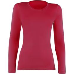 textil Mujer Camisetas manga larga Rhino RH003 Rojo