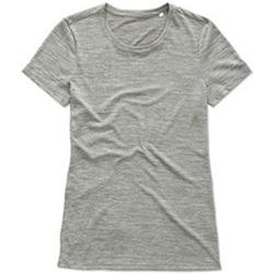 textil Mujer Camisetas manga corta Stedman  Gris Jaspeado