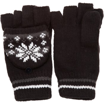 Accesorios textil Mujer Guantes Universal Textiles Patterned Negro/ Gris