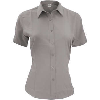 textil Hombre Camisas manga corta Henbury HB596 Gris