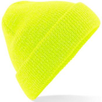 Accesorios textil Gorro Beechfield Reflective Amarillo fluorescente