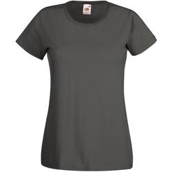 textil Mujer Camisetas manga corta Universal Textiles 61372 Grafito