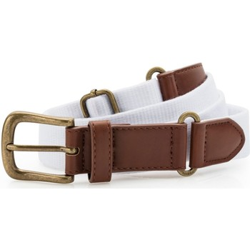Accesorios textil Hombre Cinturones Asquith & Fox AQ902 Blanco