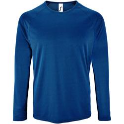 textil Hombre Camisetas manga larga Sols 2071 Azul Real