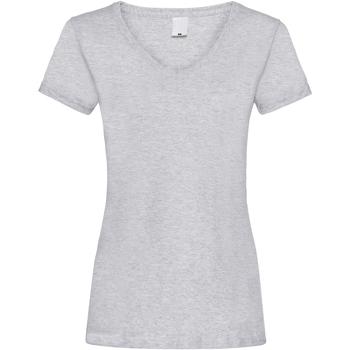 textil Mujer Camisetas manga corta Universal Textiles Value Gris piedra