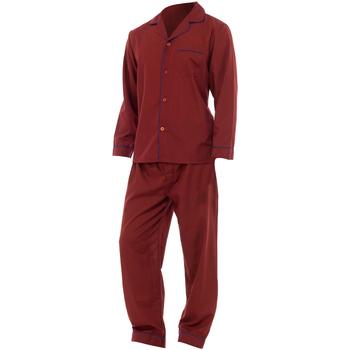 textil Hombre Pijama Universal Textiles  Rojo