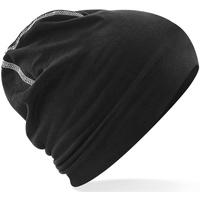 Accesorios textil Hombre Gorro Beechfield B366 Negro/Blanco