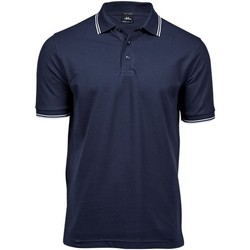 textil Hombre Polos manga corta Tee Jays TJ1407 Azul marino/ Blanco