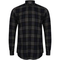 textil Hombre Camisas manga larga Skinni Fit Check Marino