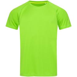 textil Hombre Camisetas manga corta Stedman  Verde Kiwi
