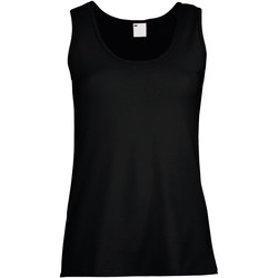 textil Mujer Camisetas sin mangas Universal Textiles Fitted Negro azabache