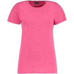 textil Mujer Camisetas manga corta Kustom Kit Superwash Rosa mezcla