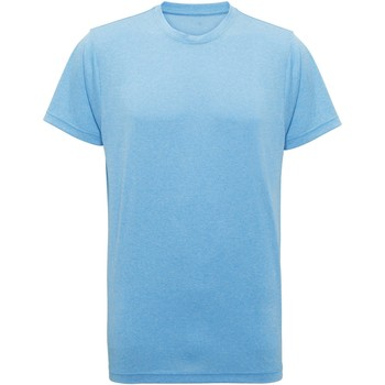 textil Hombre Camisetas manga corta Tridri TR010 Turquesa Jaspeado