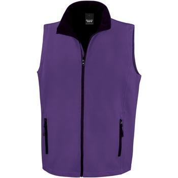 textil Hombre Chaquetas de punto Result R232M Púrpura/Negro