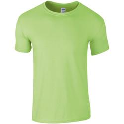 textil Hombre Camisetas manga corta Gildan SoftStyle Menta