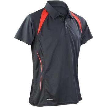 textil Hombre Polos manga corta Spiro S177M Negro/Rojo