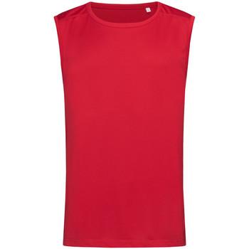 textil Hombre Camisetas sin mangas Stedman  Rojo pasión