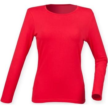 textil Mujer Camisetas manga larga Skinni Fit SK124 Rojo brillante