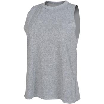 textil Mujer Camisetas sin mangas Skinni Fit High Neck Gris